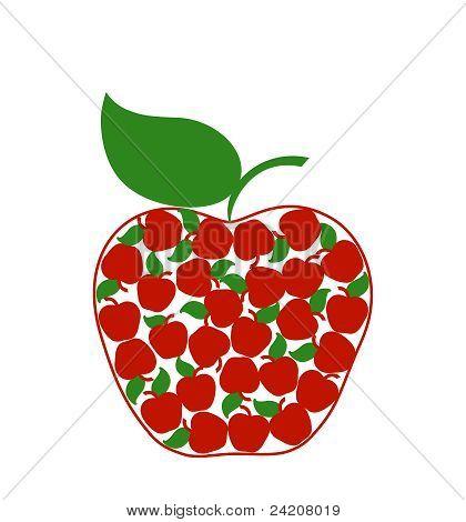 Ilustração em vetor de um Apple criativo