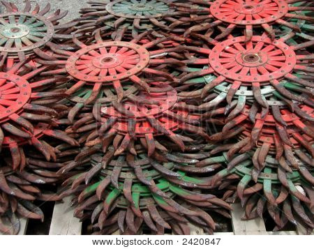 Abstract Tractor Parts