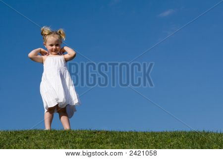Cute Little Girl Having Fun Outdoorsc