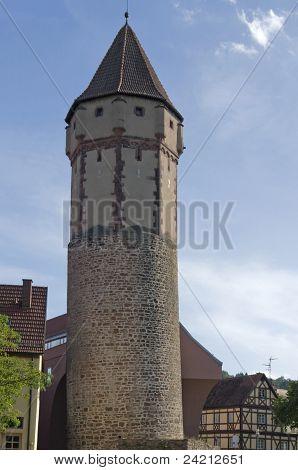 Spitzer Turm In Wertheim Am Main
