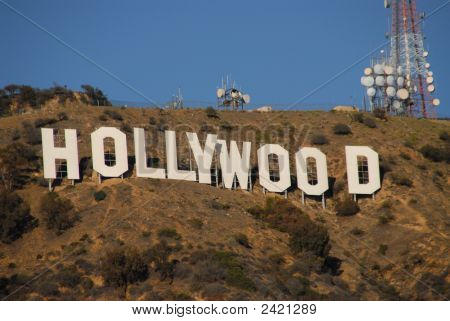 Hollywood Sign close up