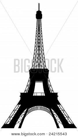 Eiffel Tower Silhouette