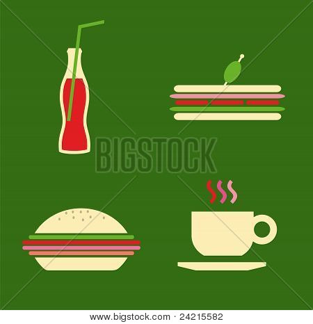 Fast Food Icons Set