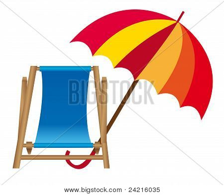 Chair Beach And Umbrella