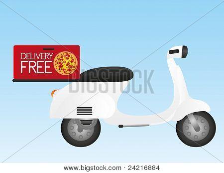white motorbike