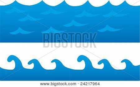 blue sea cartoon