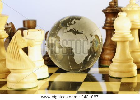 Chess And Globe