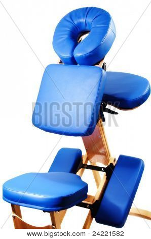 Massage seat, isolated over white