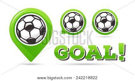 Soccer Goal Vector Icons Football