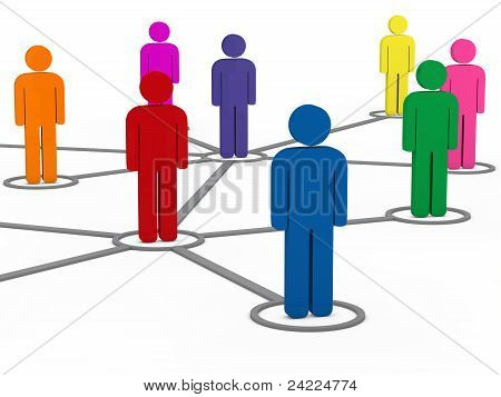 3D Social Communication People Network