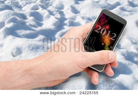 Smartphone In Hand - New Year 2012