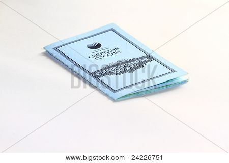 savings book on a white background