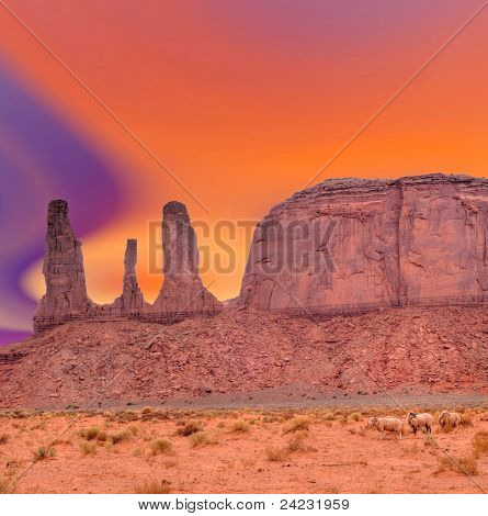 Ovejas de Monument Valley