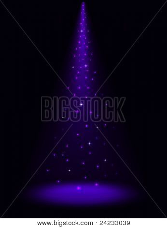 Abstract stage sparkling spotlight vector background. EPS10 file.