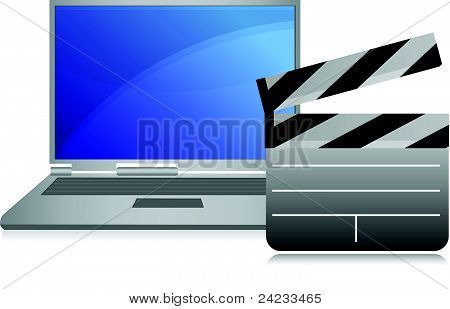 Online-Filme Konzept Laptop Abbildung