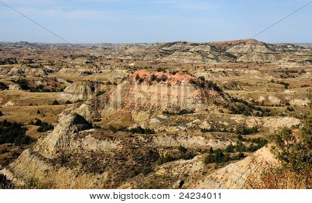 Painted Canyon at Theodore Roosevelt National Park, North Dakota