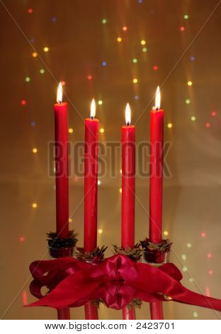 Christmas Red Candles