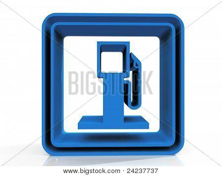 símbolo de la gasolinera