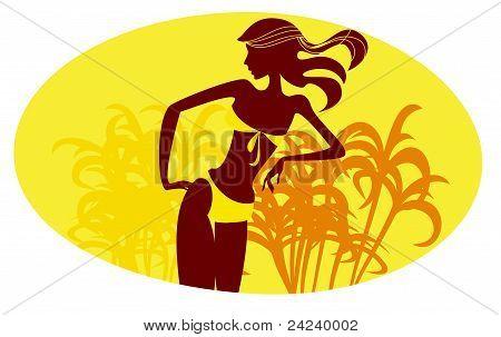 Girl In A Yellow Bikini