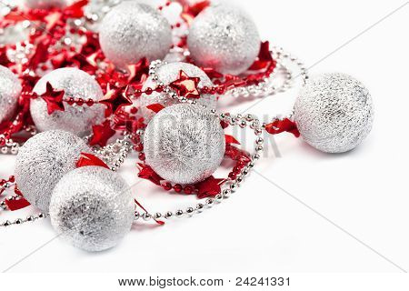 Silver Balls And Red Stars