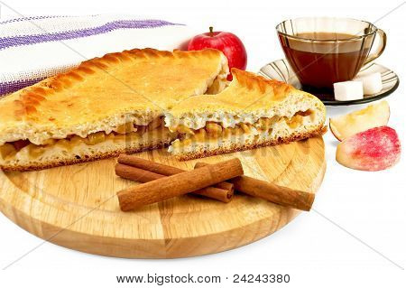 Apple Pie With Cinnamon And Apples