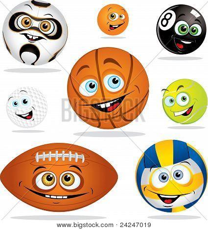 Funny Smiling Balls