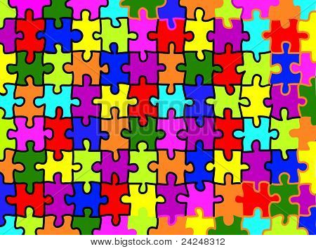Colorful jigsaw puzzle background texture