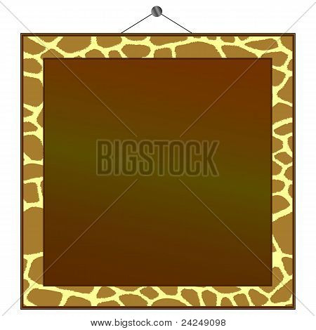 Giraffe Print Frame To Put Your Own Photo Or Text In.