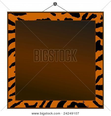 Tiger Print Frame To Put Your Own Photo Or Text In.