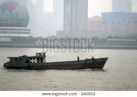 Chinese Cargo Boat