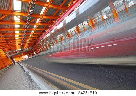 Orange Steel Tunnel