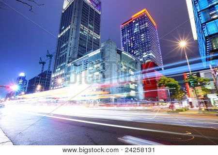 Taipei City Street at Night
