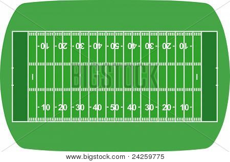 american football field, ball and helmet vector