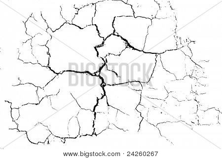 Cracked Desert Floor Pattern, vector  illustration