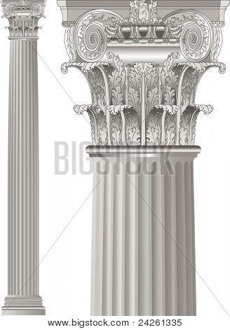 conjunto de columnas clásicas
