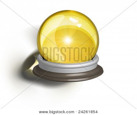 vectorial illustration of a magic crystal ball