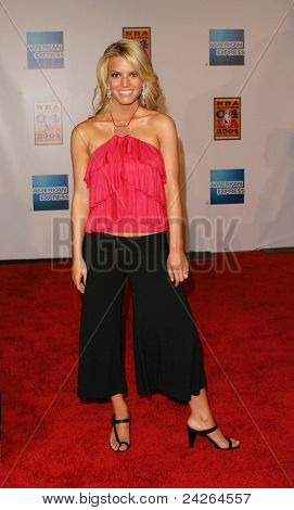 LOS ANGELES - FEB 12: Jessica Simpson at the 'A Tribute to Magic Johnson - The official tip-off to NBA All-Star 2004 Entertainment' on February 12, 2004 in Los Angeles, California.
