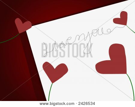 Love Heart And Words On Paper