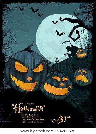 Plantilla de Halloween vector