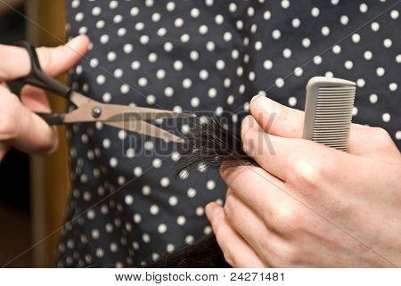 Hairdresser's work
