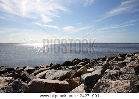 View Of Stones And Water
