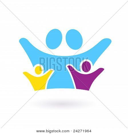Family & Community Sign Or Icon Isolated On White..