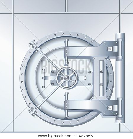 Detailed illustration of Bank Vaulted Door