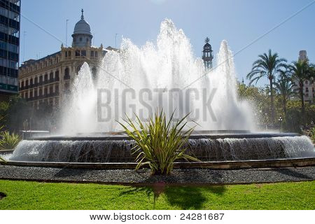 Fountain in Valencia, Spain