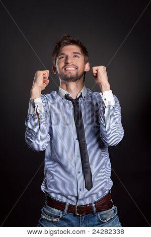 businessman gesture