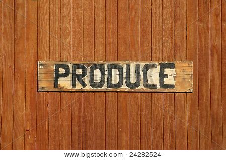 Hand-made Produce Sign