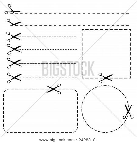 Set Of Coupon Borders