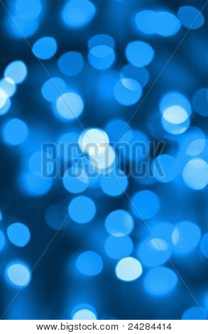 Abstract Background Of Blue Holiday Lights