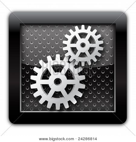 Gear metal icon