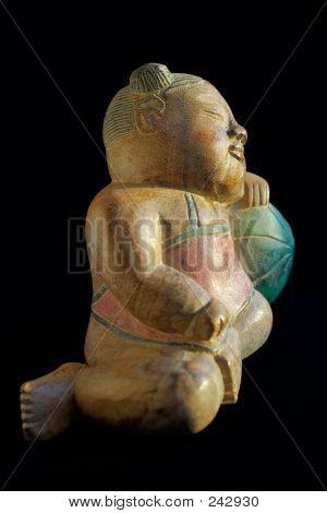 Wooden Souvenir-sleeping Child 3
